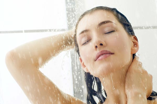 Hot water shower for morning stifness