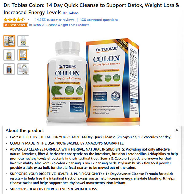 Dr Tobias Colon Quick Cleanse and Weight Loss